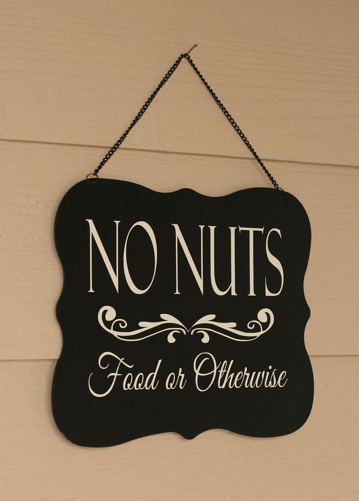 What a great way to let guests know that your house is nut-free