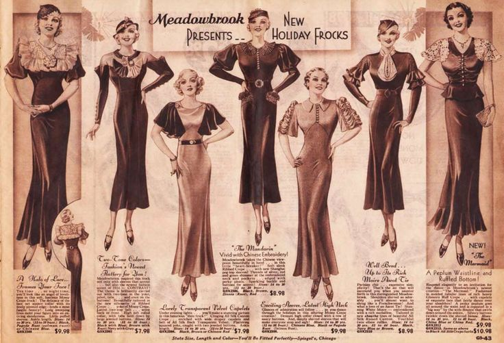 The changes in fashion that occurred in the 1930s are essential to vintage inspired clothing today. We love feminine butterfly sleeves and sophisticated elegance, both gifts to women's clothing from this decade! With the onset of the Great Depression, many people were forced to give up a lavish lifestyle, but an era of big bands and nightlife remained.