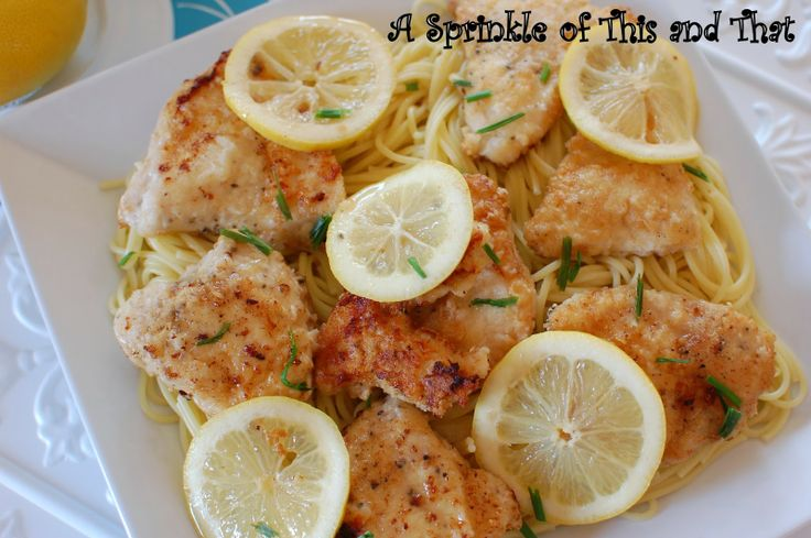 A Sprinkle of This and That: Chicken Limone