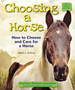 Are you ready for a horse? Horses are graceful, majestic, and intelligent animals. They can be great pets, but it takes a lot of work to take care of a horse. CHOOSING A HORSE will tell you about the different types of horses, where you can get one, and how to care for one. Learn about a horse's diet, training, grooming, and much more. If you have the time and money to keep a horse healthy and happy, you can spend many fun-filled years together.