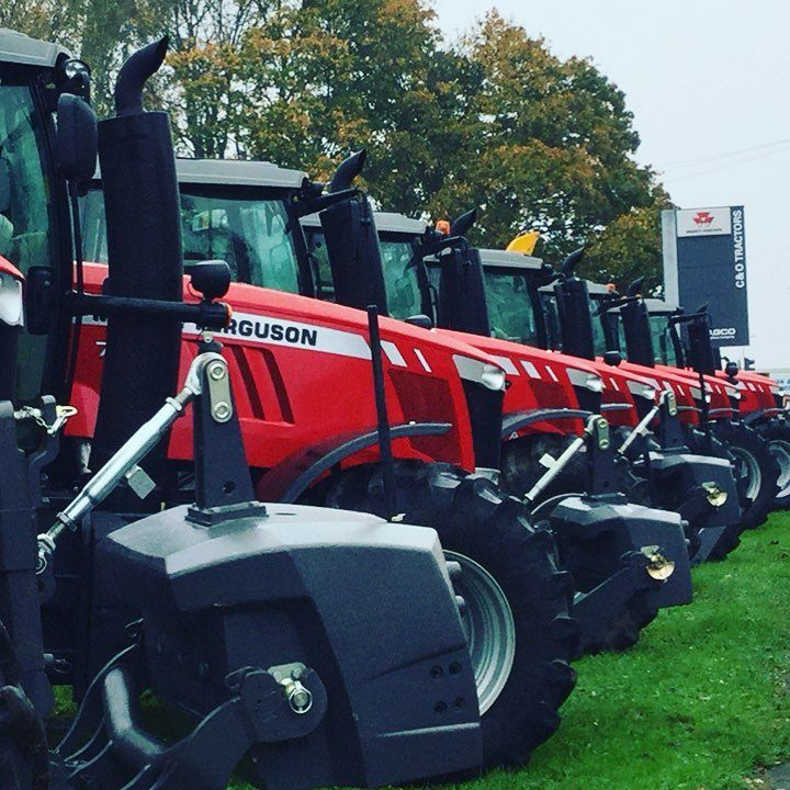 """65 Likes, 1 Comments - Candotractors (@candotractors) on Instagram: """"Lovely row of red in front of the depot at Blandford #masseyferguson #candotractors #redcarpet #agco"""""""