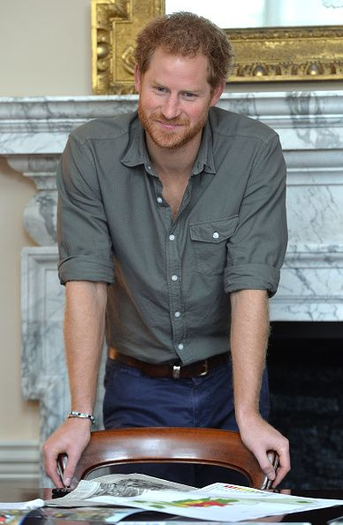 Prince Harry Attends MapAction Briefing Ahead Of Nepal Tour on March 16, 2016 in London, United Kingdom.