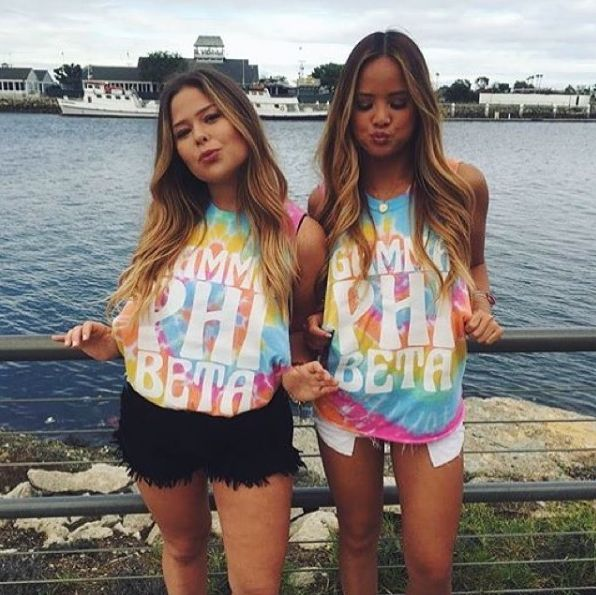 Gamma Phi & Tie Dye | Recruitment Ideas | Bid Day Shirts | Sorority Apparel