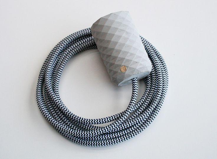 concrete pendant light grey zebra