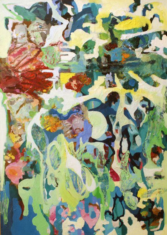 we are like a flowers (Peinture),  40x70x5 cm par Andrea Marostegan