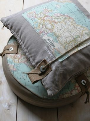 love these map pillows!