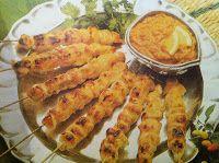 minha cozinha: Satay de frango ou carne e creme de amendoim - COZINHA ASIÁTICA