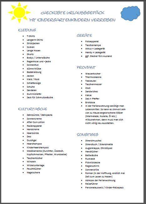 1000 ideen zu koffer packen checkliste auf pinterest. Black Bedroom Furniture Sets. Home Design Ideas