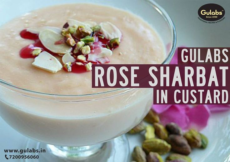 Try your #FruitCustard with a dash of #Gulabs #RoseSharbat in it!