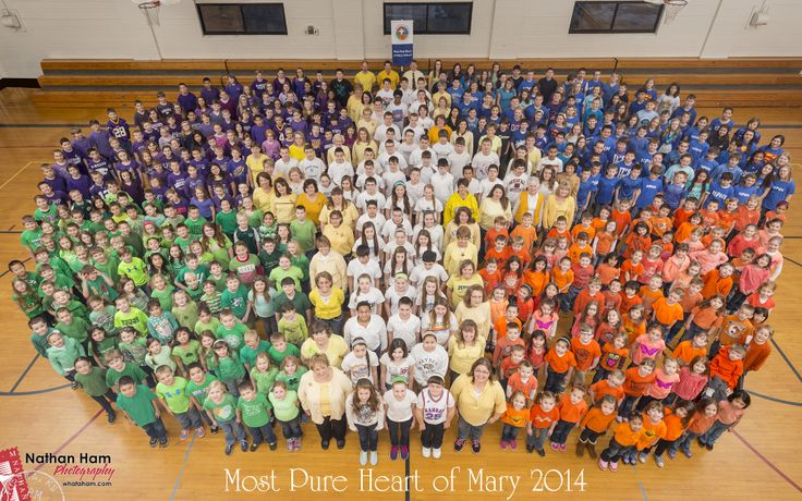 The students and faculty of Most Pure Heart of Mary in Topeka celebrated Catholic Schools Week with a living CSW logo. For more information about Most Pure Heart and all the CEF schools, visit www.cefks.org.