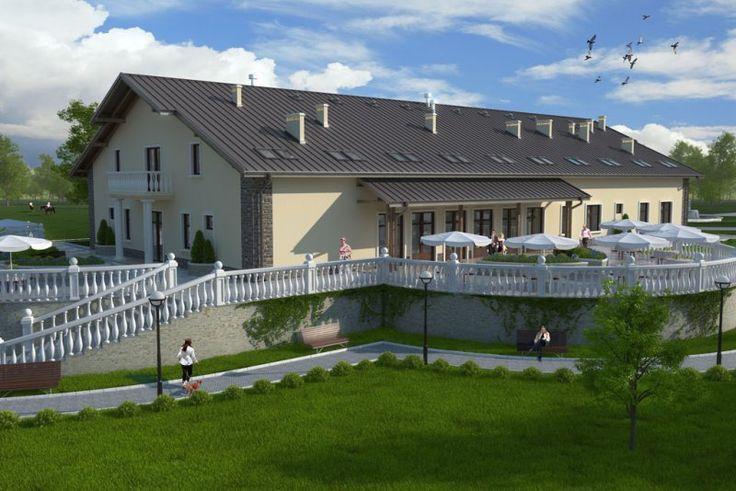 Projekt budynku gastronomicznego z zapleczem noclegowo-konferencyjnym K-31, parterowy z poddaszem użytkowym, bez podpiwniczenia, mogący pełnić funkcję domu weselnego, pensjonatu motelu lub zajazdu. Budynek można również zaadaptować na dom opieki dla osób starszych.