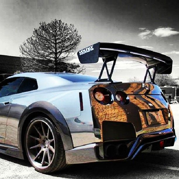 Wrapped in chrome! #Nissan #GTR