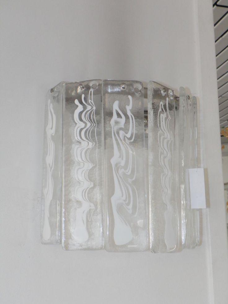 Lampada da parete applique LA MURRINA NADIR a moduli vetro trasparente ...