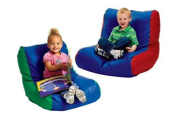 Toddler HighBack Beanbag Chair  RedBlue  Spica cast