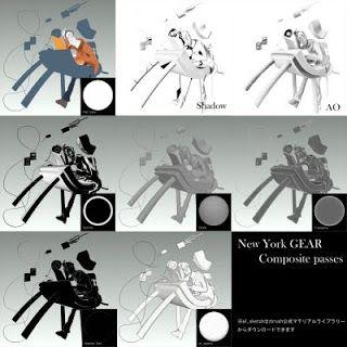 レトロパピエ! RETRO PAPIER!: トゥーンCG「ニューヨークの歯車」