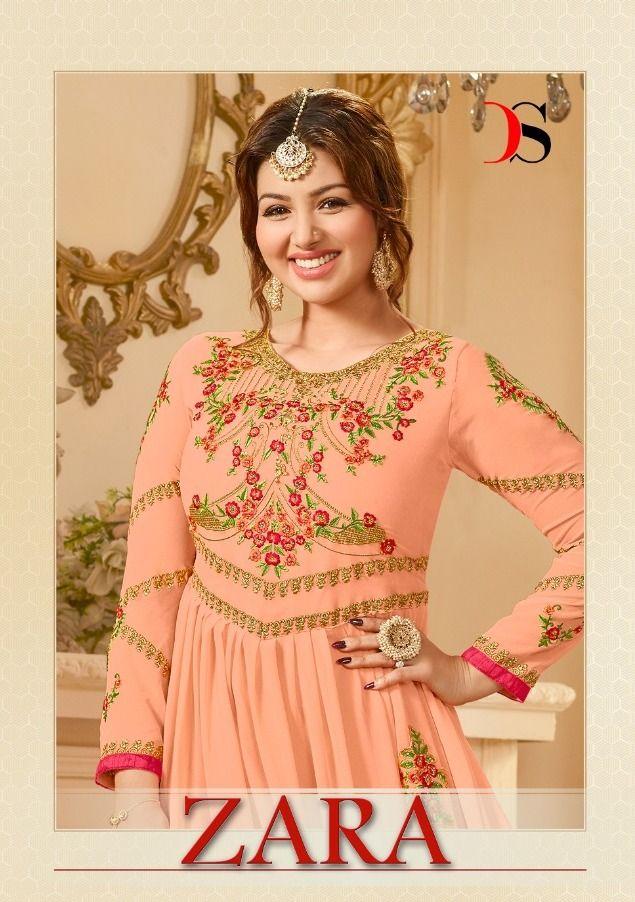 95dfb6a09a Deepsy Suits Zara Heavy Designer Anarkali Real Georgette with Embroidered  Work Salwar Kameez Dealer Surat