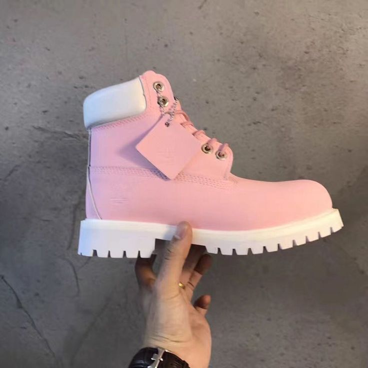 new pink and white women timberland boots online