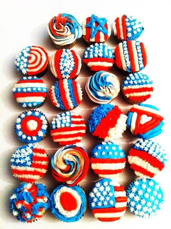 4th of july cupcake flavors
