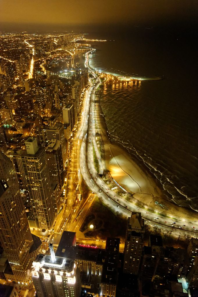Chicago Night View from John Hancok Center | by Yuki--chan. Pinned by #CarltonInnMidway - www.carltoninnmidway.com