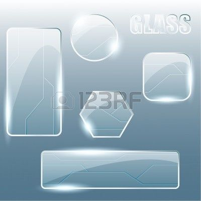 Collection of shiny glass and metal banners and buttons. Graphics are grouped and in several layers for easy editing. The file can be scaled...