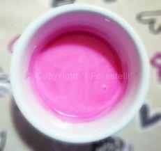 Glassa dolce per popcorn rosa