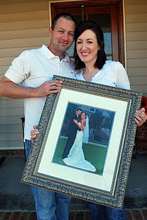 Take a picture every year on your anniversary holding your wedding photo! Love it! It's the perfect way to see how things change and yet how they stay the same!