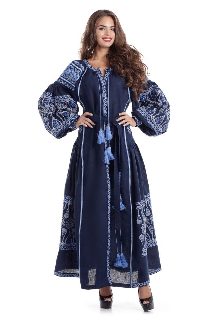 Украинское Платье Вышиванка. Повседневное платье, Платье для отпуска, Свадебное платье, Коктельное платье - Вышитое платье может быть любым, это зависит от цвета ткани, цвета вышивки и длины Украшением платья является Украинская вышивка в современном исполнении. Вышитое платье - тренд сезона. Вышивка используется многими современными дизайнерами: Валентино, Дольче Габбана, Вита Кин.  Макси платье выполнено из высококачественного 100% натурального льна. Лен является наиболее экологичным и…
