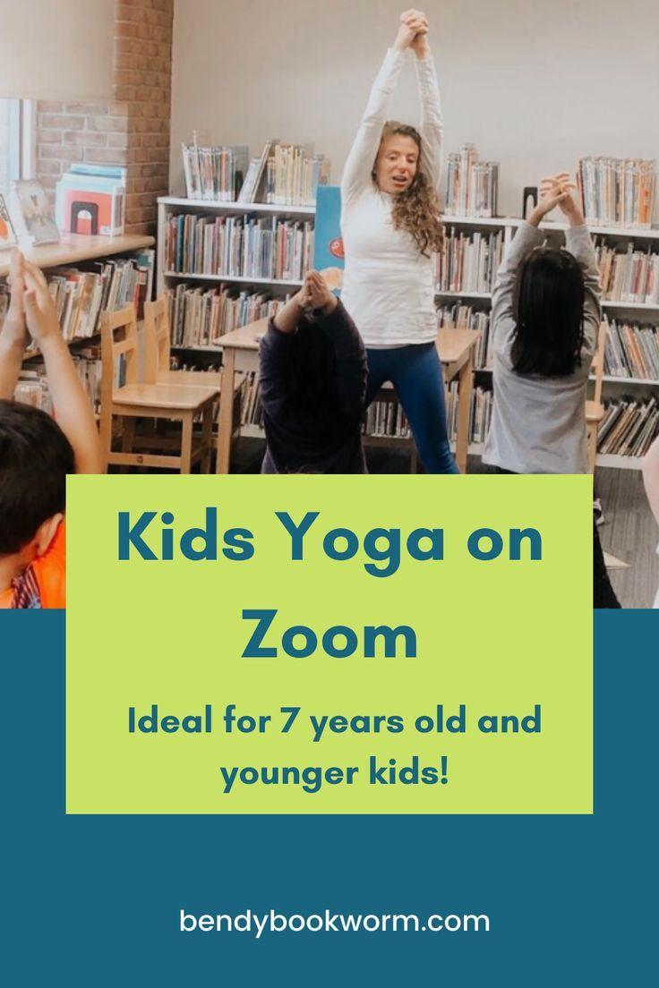 Kids yoga zoom bendy bookworm yoga in 2020 yoga for kids