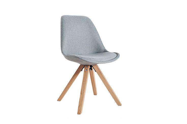 Krzesło Astoria New II szare (nogi dębowe)