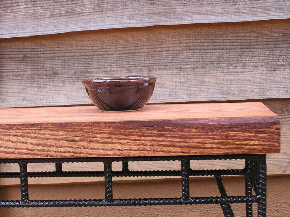 Rustic Industrial Side Table Rebar Table by SoulSeeds on Etsy, $225.00