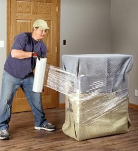 Wring A Sofa Couch Or Love Seat With Blanket Using Plastic Wrap Will Protect This Piece Of Furniture When Shipping Moving