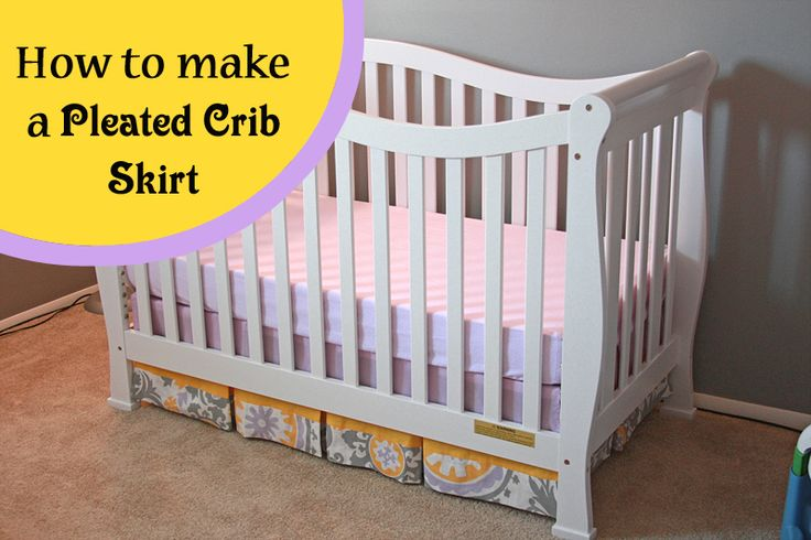 Runs With Spatulas: Crafty Fridays: How to Make a Pleated Crib Skirt