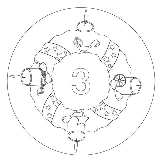 Weihnachtsmandala-3.  Avènement