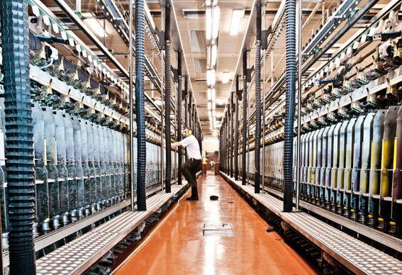 Spinnemaskiner for kardegarn #fabrikk #sandnesgarn