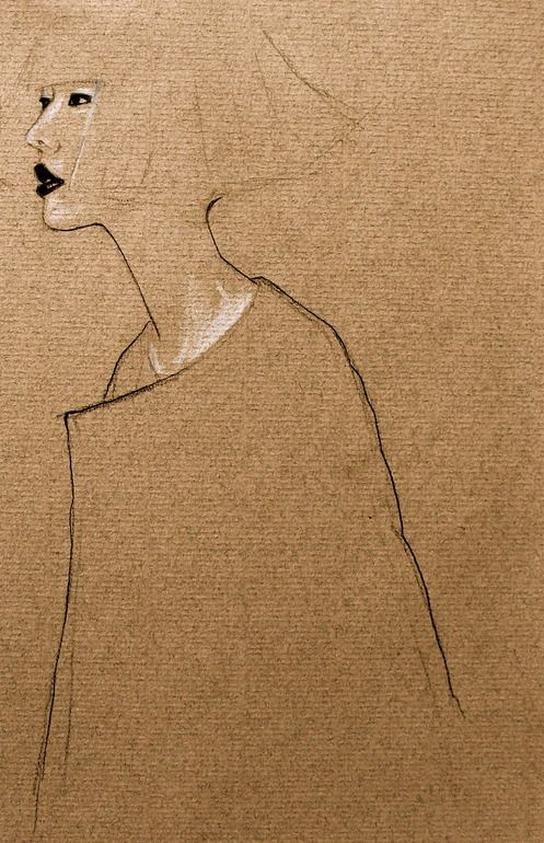 """Saatchi Art Artist: April Oh; Pencil Drawing """"bob"""""""