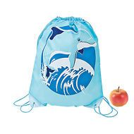Dolphin Party Drawstring Backpack