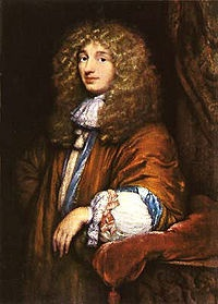 Christiaan Huygens, FRS (14 April 1629 – 8 July 1695) was a prominent Dutch mathematician, astronomer, physicist and horologist. His work included early telescopic studies elucidating the nature of the rings of Saturn and the discovery of its moon Titan, the invention of the pendulum clock and other investigations in timekeeping, and studies of both optics and the centrifugal force.