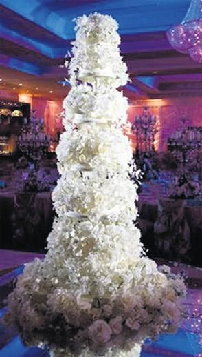 There's no expense to great for Irish businessmogul Sean Quinn's daughter (once heralded by Forbes magazine as the richest man in Ireland). When Ciara married Niall McPartland, their wedding cake, at $ 325perslice for 400 guests,was labeled the most expensive to grace an Irish wedding table. The six foot cake of tiered layers was made up of cascading edible flowers,using crème de la crème, thefinest butter, heavy cream, fresh fruit and imported chocolate by octogenarian Sylvia…