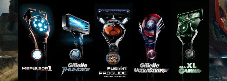 #Gillette #avengers #rasage #rasoir #shaving #homme #starkindustries
