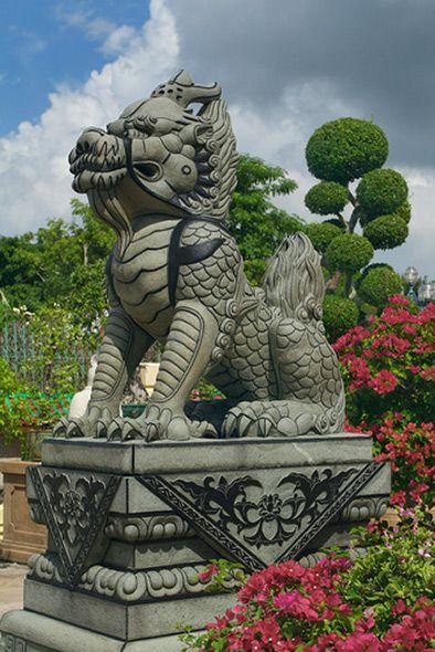 Chinese Dragon Statue Museum Viharnra Sien Thailand Architecture Gardens Sculptures