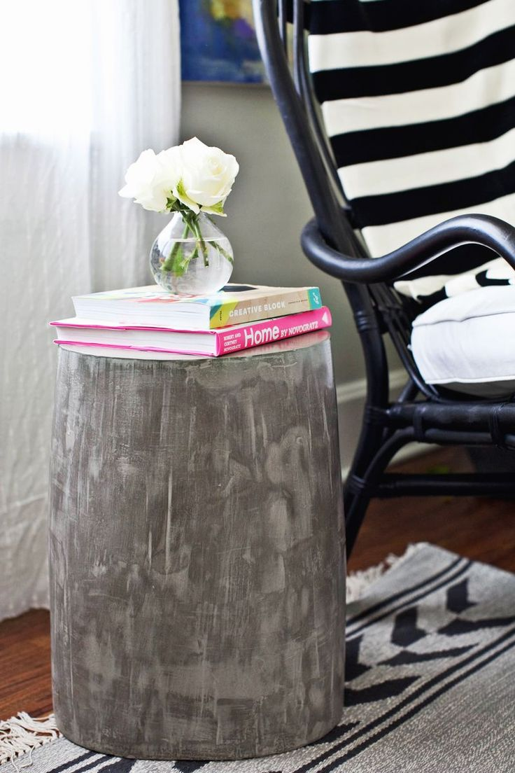 DIY Lightweight Cement Side Tables