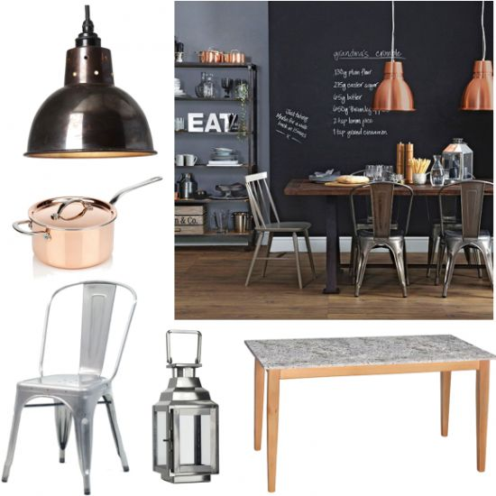 Industrial dining with copper accents | Moodboards | housetohome.co.uk