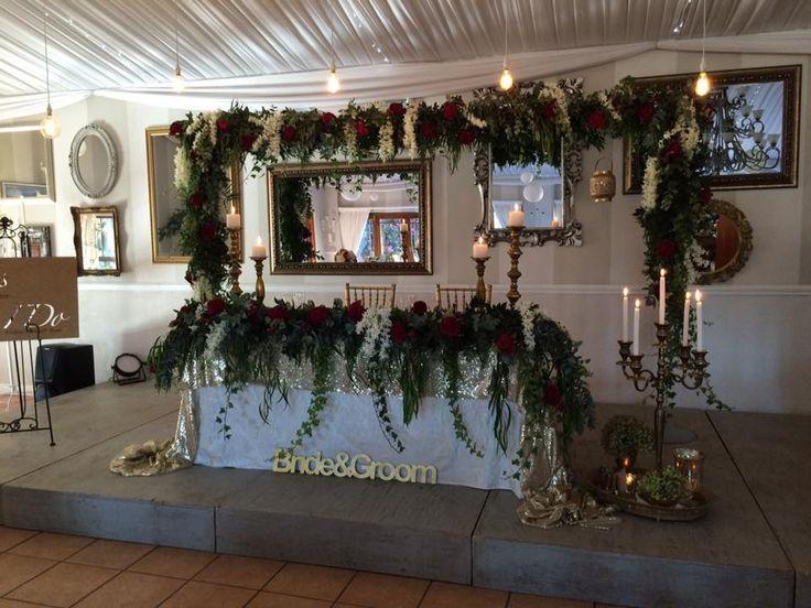Silk flower arrangement done by Kerry - https://www.facebook.com/kerrysflowersanddecor/