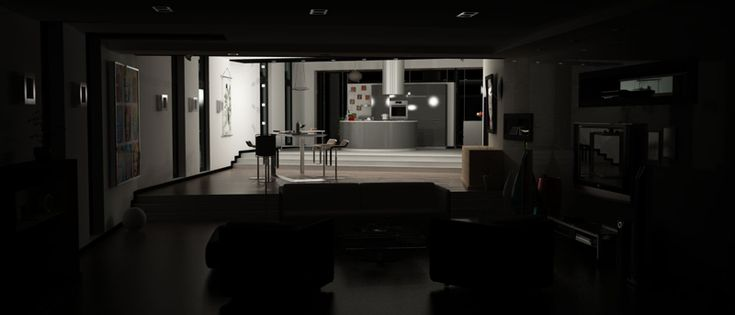 Interior in C4D created for Idealuce advertising campaign (2008).    #Cinema4D #Vray #3D #interior #idealuce #light #luce #render #ad