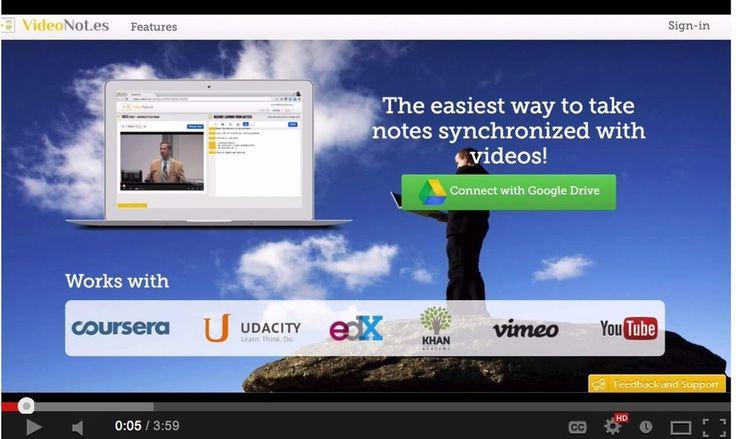 Videonotes: Uma poderosa ferramenta Google Drive para Registo de Notas enquanto se assiste a um vídeo | Educational Technology and Mobile Learning