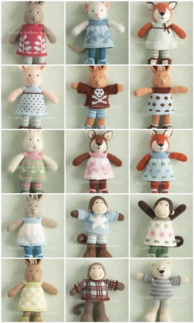 Amazing knitted animals from Little Cotton Rabbits