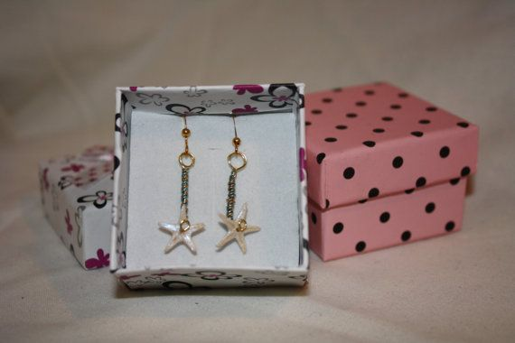Starfish earrings, #gift boxed with #FREE UK Delivery by @BlueRiderArtsUK http://etsy.me/1tDxqUI