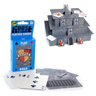 Baralho Criativo Castelo de Cartas - O castelo de cartas vai ficar tão legal que você nem vai querer jogar buraco.  #Jogos #Cartas #PresentesCriativos