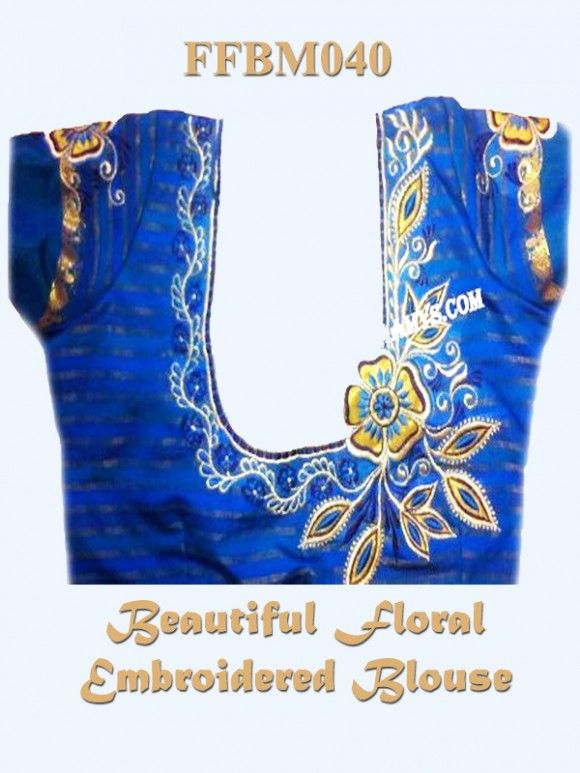 Faamys Attractive Blue  Floral Embroided Blouse . Looks Beauty <3 Visit to place an order : www.faamys.com