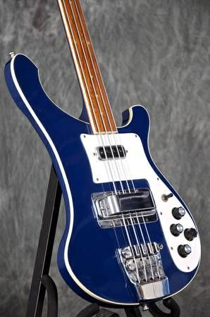 1980 Fretless Rickenbacker 4001 Bass Guitar
